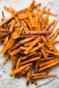 Baked Spicy Cinnamon Sweet Potato Fries Recipe