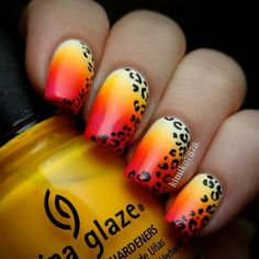 """These are so bright in real life, my camera couldn't capture it. I used """"Sugar Cube"""" by Salon Perfect as the base and China Glaze's """"Sun Worshiper"""" and """"Rose Among Thorns"""" for the gradient."""
