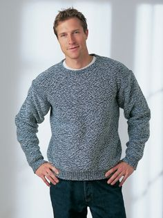 Free Pattern - Basic, easy-knit sweater sure to please any man...where so I find this guy? Maybe if I knit the sweater he'll appear LOL