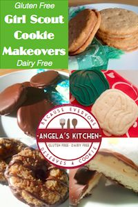#Glutenfree #dairyfree Girl Scout Cookie Makeover - the top five sellers done #gfcf!