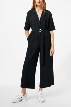4532a207d58b Jimi Short Sleeve Jumpsuit - Black - Dresses   Jumpsuits