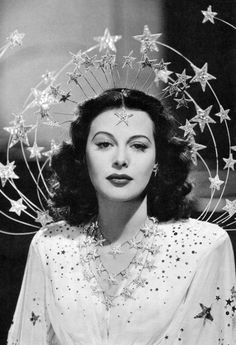 Here is Hedy Lamarr being a star and wearing them.  I like to think that she started life as Bertha Cooper but changed her name by deed poll upon donning this particular celestial headdress.