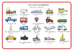 Dutch Phrases, Learn Dutch, Daycare Themes, Dutch Language, All Languages, Classroom Projects, Speech Therapy, Grammar, Transportation