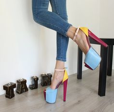Higher, higher and higher... Stand tall while being comfortable.Seeour platform models that will take you up to a new level, literally! Made in Turkey. Shipping worldwide. Narrow Shoes, Platform High Heels, Sandals Platform, Buy Shoes, Women's Shoes, Kinds Of Shoes, Long Toes, Girls Shoes, Ladies Shoes