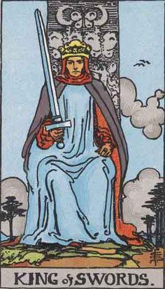 King of Swords - Rider Waite Tarot by A. E. Waite, Pamela Colman-Smith