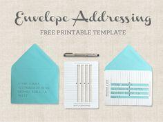 Handwritten Envelopes Addressing Template   Download & Print