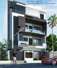 3 Storey House Design, House Gate Design, Village House Design, Bungalow House Design, House Front Design, Small House Design, Modern Bungalow Exterior, Modern Exterior House Designs, Dream House Exterior