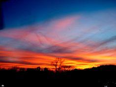 PAINTED ARKANSAS SUNSET by Larry Moore - Landscapes Sunsets & Sunrises (  )
