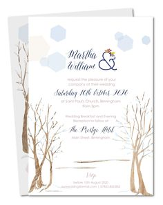 Wedding invitation Blanketed forest