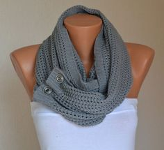 """Make any long scarf an """"Infinity scarf"""" with buttons"""