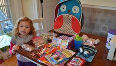 Anatomy of a Preschooler's Carryon Bag