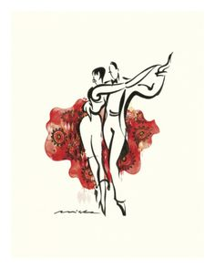 Tango In Red by Misha Lenn art print Tango Art, Art Commerce, Art For Sale Online, Cool Posters, Street Artists, Pictures To Draw, Contemporary Artists, Fine Art Prints, Poster Prints