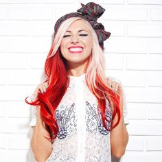 Bonnie McKee. I get the feeling I wouldn't be able to stand this woman if I knew anything about her haha. BUT HER HAIR!!!!!! Yes.