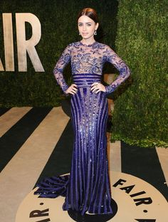 oscars-afterparty-dresses-lily-collins Zuhair Murad
