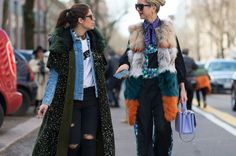 [Faux fur only] The Best Street Style From Milan Fashion Week