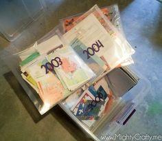 How to organize family memorabilia from www.MightyCrafty.me