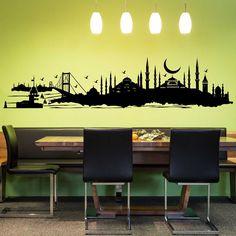 Dekorieren Sie Ihre Wände mit dem Motiv: Istanbul Skyline Wandtattoo von Wandtattoo.kiwi - Einzigartige Designs in bester Qualität zu top Preisen!