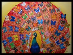 """World´s butterflies"" ""Mariposas del Mundo"" 130 x 180 cms Oil on canvas (Óleo sobre lienzo)"