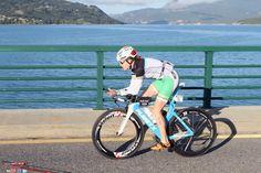 Eimear Mullan cycling in the Embrunman Triathlon. #Triathlon #TeamFirefly