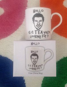 #Novelty lionel richie mug - #hello is it tea #you're looking for,  View more on the LINK: 	http://www.zeppy.io/product/gb/2/111992596018/