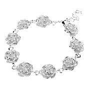 Flower Sterling Silver Plating Bracelet – EUR € 4.41