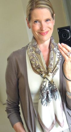 MaiTai's Picture Book: Hermes scarf in a criss-cross knot