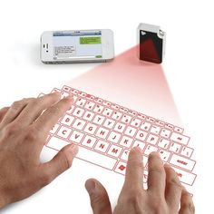 Pocket-Sized Virtual Keyboard, Projectable Onto Any Surface - DesignTAXI.com