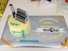 """Matbaa"" Temalı Butik Doğumgünü Pastası.! ""Printing Press"" Birthday Cake.!"