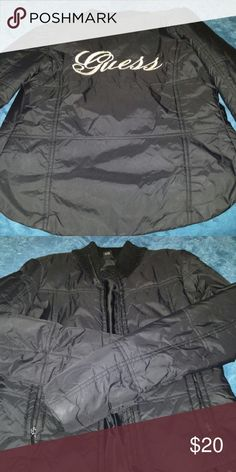 Guess Jacket Guess Jacket in very good condition? Guess Bags, Buy And Sell, Product Description, Coats, Purses, Jackets, Beauty, Black, Design
