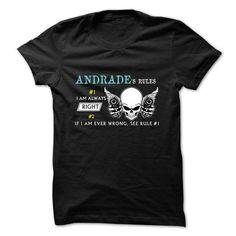 ANDRADE RULE NUMBER 1 -  2015 DESIGN - #sweatshirt diy #sweatshirt menswear. OBTAIN => https://www.sunfrog.com/Pets/ANDRADE-RULE-NUMBER-1--2015-DESIGN.html?68278