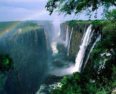 "Victoria Falls ""Mosi-oa-Tunya (the Smoke that Thunders)"" , Southern Africa."