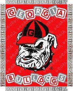 Georgia Bulldogs UGA Baby Blanket Bedding Throw 36 x 46