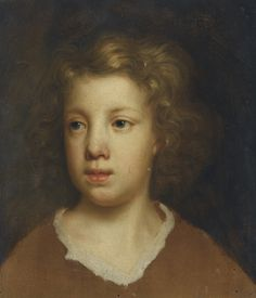 Mary Beale (English, 1633 - 1699): Portrait study of the head of a boy, probably Charles Beale, the artist's youngest son (via Sotheby's)