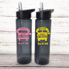 Personalized Bus Driver Water Bottle - Bus Driver Tumbler - School Bus Water Bottle - Bus Driver Appreciation Gift - Custom School Bus Gift by SimplyGracefulDesign on Etsy