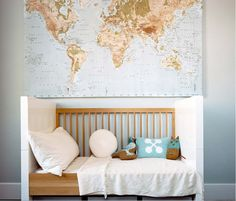 Ikea world map for dining room
