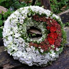 by Tina Kjaer Funeral Flower Arrangements, Funeral Flowers, Funeral Sprays, Casket Sprays, Grave Decorations, Wreaths And Garlands, Sympathy Flowers, How To Make Wreaths, Floral Design