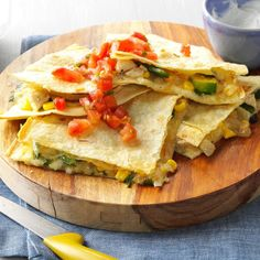 89 Spring Recipes That Will Impress Any Guest Chicken Verde, Cream Cheese Chicken, Monterey Jack Cheese, Quesadilla Recipes, Mexican Food Recipes, Ethnic Recipes, Stuffed Poblano Peppers, Enchilada Sauce, Taste Of Home