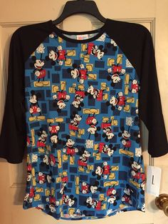 $  51.00 (11 Bids)End Date: Jul-04 15:54Bid now  |  Add to watch listBuy this on eBay (Category:Women's Clothing)... Check more at http://salesshoppinguk.com/2017/07/04/lularoe-disney-blue-background-black-sleeve-mickey-large-randy-major-unicorn/