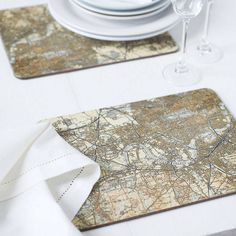 Personalised Map Coasters And Placemats