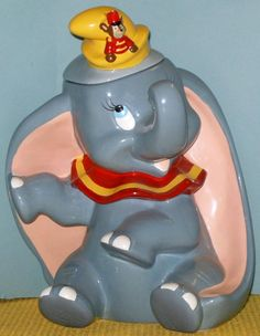 DISNEY DUMBO WITH TIMITHY MOUSE COOKIE JAR, BY TRE