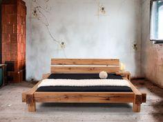 MAMMUT Massivholzbett Doppelbett Bett Eiche massiv geölt inkl. Kopfteil 160x200