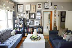 Caitlin & Dave's Oakland Apartment of Wonder & Oddities — House Tour Style At Home, Home Living Room, Living Spaces, Oakland Apartment, Two Bedroom Apartments, Interior Decorating, Interior Design, House Goals, Apartment Therapy