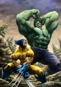 Wolverine vs Hulk | Artists: Jeremy Colwell and David Yardin