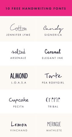 10 free handwriting fonts for your everyday needs!