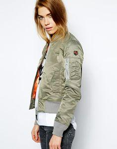 so want this jacket Schott | Schott NYC AC Bomber Jacket at ASOS