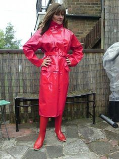Raincoats For Women Hoods Vinyl Raincoat, Plastic Raincoat, Imper Pvc, Black Raincoat, Pvc Skirt, Rubber Raincoats, Pvc Coat, Rain Gear, Fetish Fashion