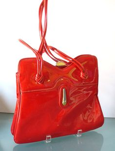 Vintage Candy Apple Red  Patent Leather Mod by TheOldBagOnline