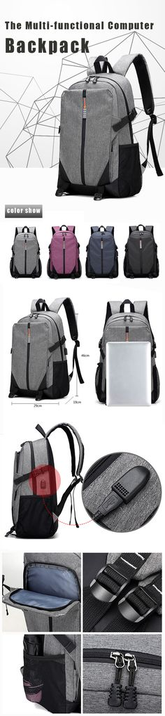 US$30.36#Anti-theft Korean Version Of The Multi-functional Computer Bag Travel Bag Students Leisure Backpack