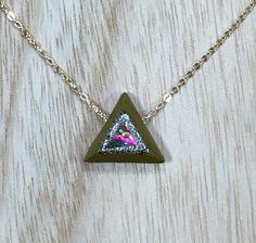 Nathis Simple and Delicate Necklace Tear-Drop Shaped Pendant of Garnet Quartz Gemstone