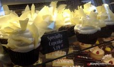 Black Velvet Cupcake with Whipped Cream at the Boardwalk Bakery!